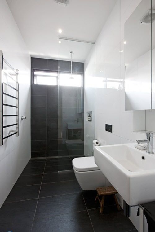 Image result for charcoal grey and white bathroom