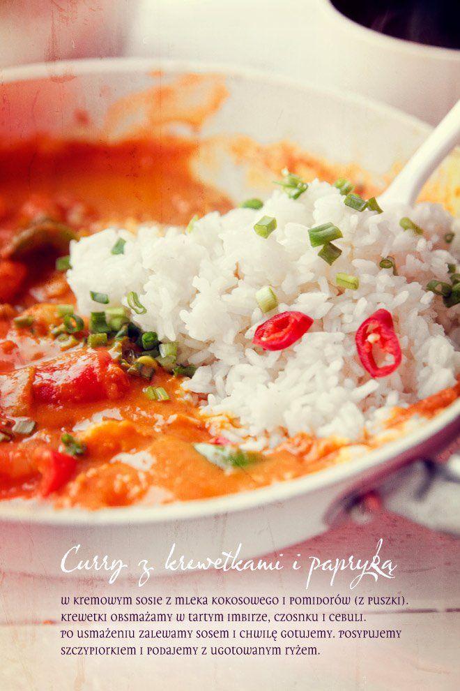 Curry z krewetkami i papryką