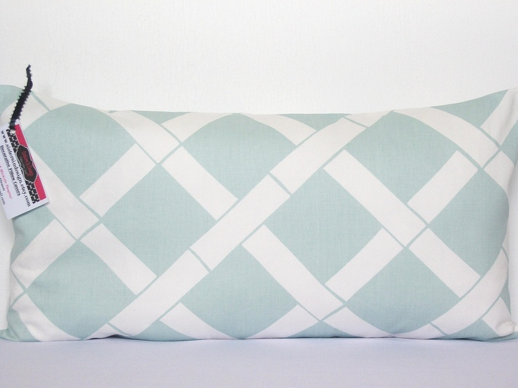 Powder Blue Decorative Pillows : Decorative Pillow Cover. 1 12x22 Premier Prints Key West Twill Powder Blue Design. FREE SHIPPING ...
