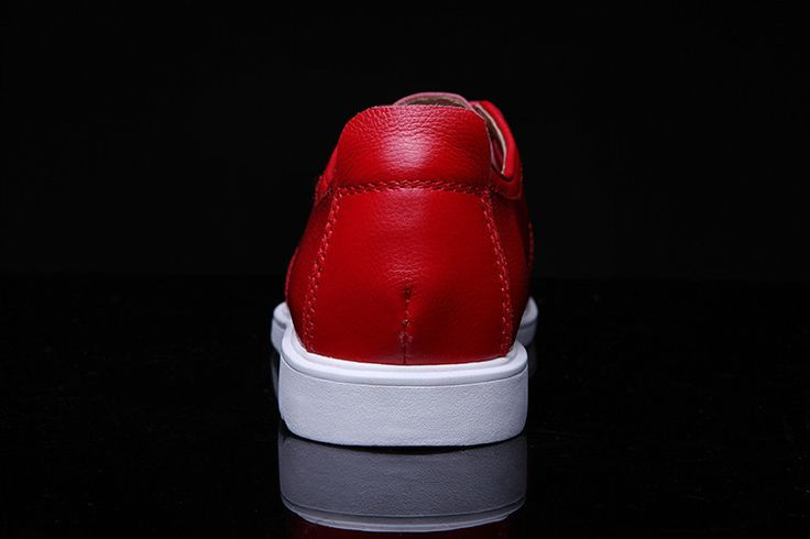 2015 fashion top quality Korean men's leather bright red shoes, club red shoes