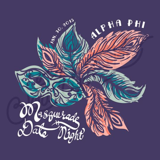 Sorority Social Alpha Phi Masquerade South By Sea