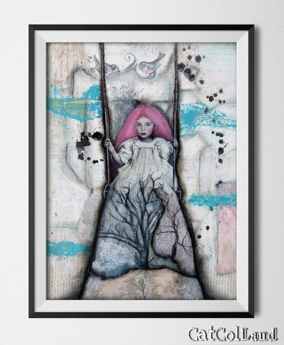 Tree Fairy  mixed media by CatColLand