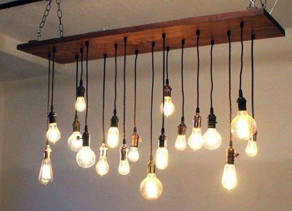 Oltre 25 fantastiche idee su Lampadario fai da te su Pinterest  Appendere vasi, Luce fai da te ...