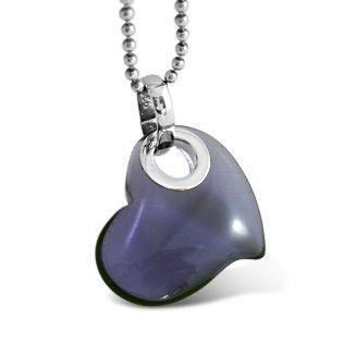 Lucite Heart Purple