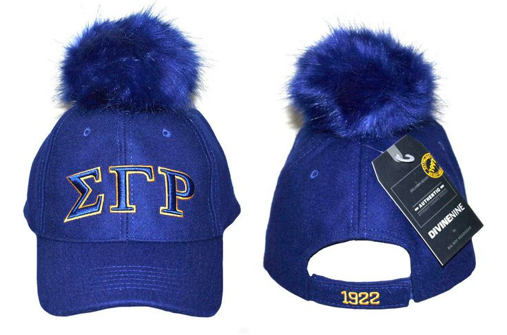 Sigma Gamma Rho Sorority Hat with Blue Pom Ball - Brothers and Sisters' Greek Store