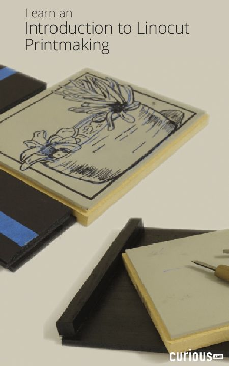 In this linocut printmaking lesson learn how to create