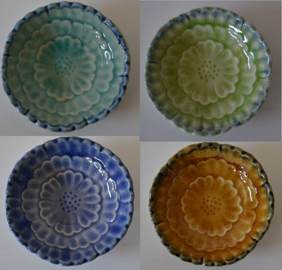 SOLD***Ceramic Sauce Wasabi Condiment Salt Dishes  by TsEclecticCorner, $10.00