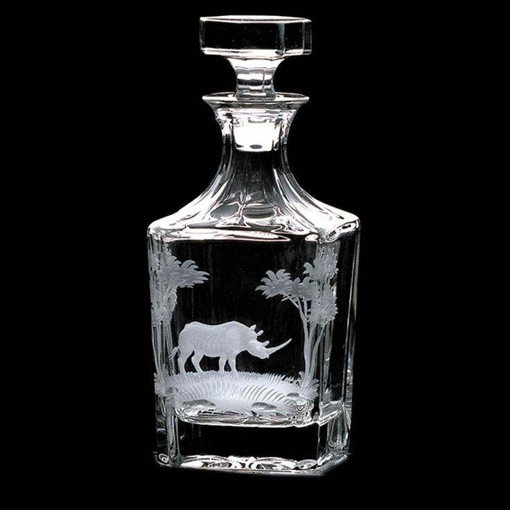 Whiskey Decanter with Rhino - $600.00