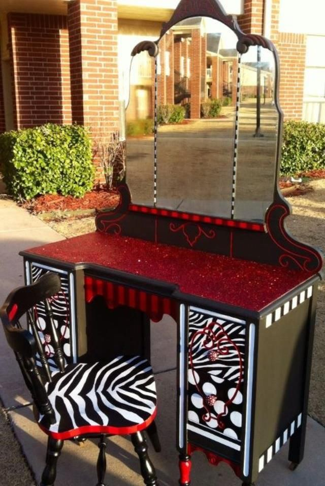 Recycled furniture - Love this! Micah needs this but with pink instead of red