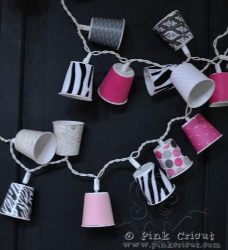 Paper/plastic cup lights