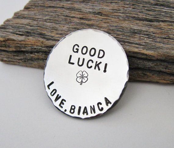 Lucky Charm Four Leaf Clover Pocket Token Shamrock for Luck Gift for Boyfriend Gift to Son Gift for
