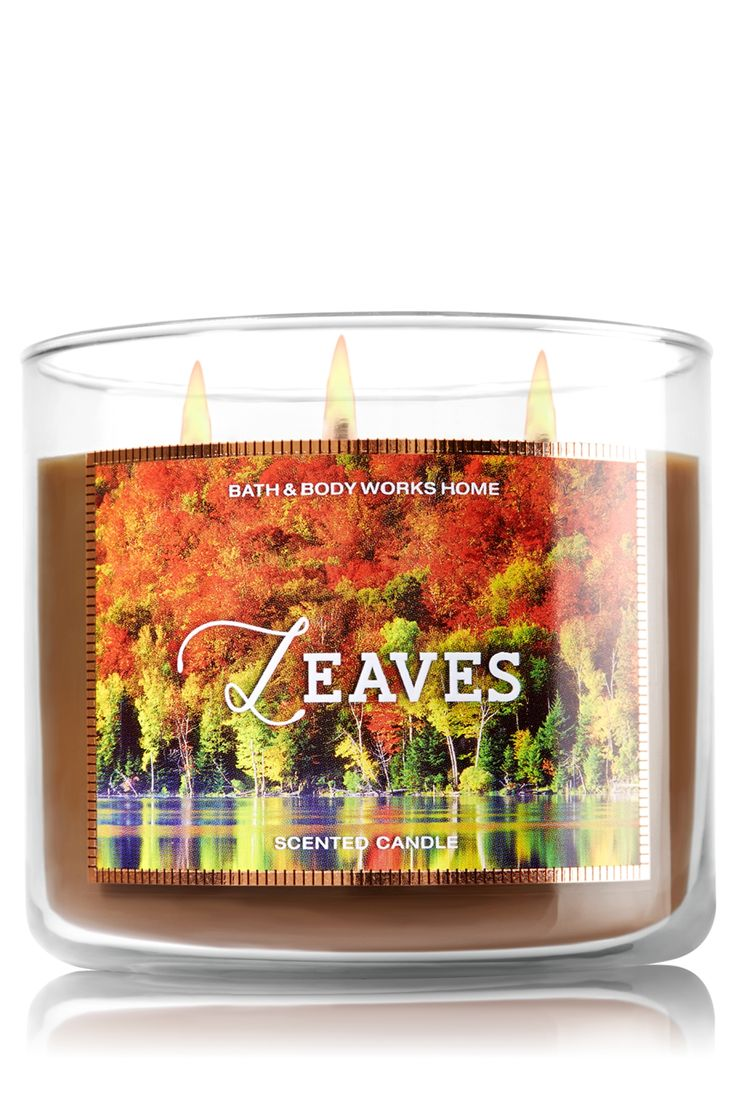 Maybe a nice pumpkin spice alternative .. Leaves 3-Wick Candle - Home Fragrance 1037181 - Bath & Body Works