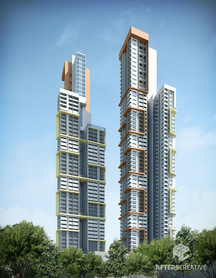 Sahana Residential Tower Exterior Renderings by After5Creative