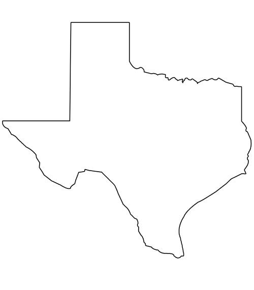 Printable Shape of Texas from PrintableTreats.com