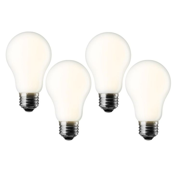 Meilo 60W Equivalent Soft White A19 Dimmable LED Light Bulb (4-Pack)