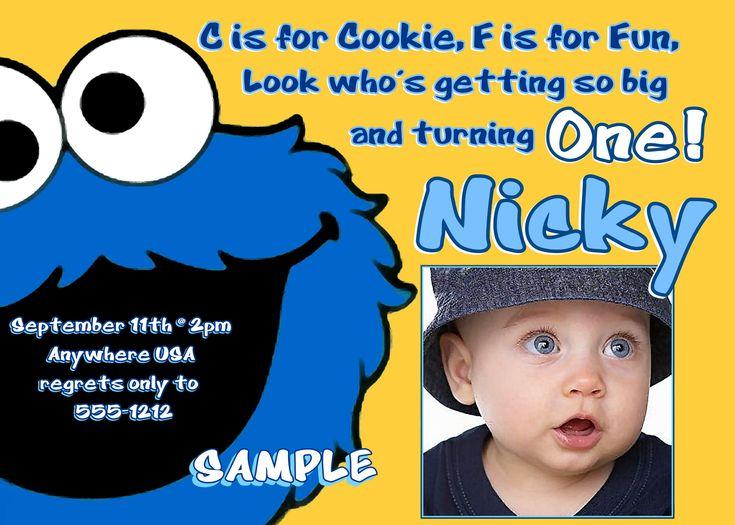 Cookie Monster Invite