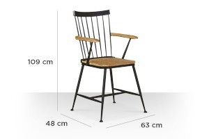 Swoon Editions Chair, industrial style in mango wood - £169