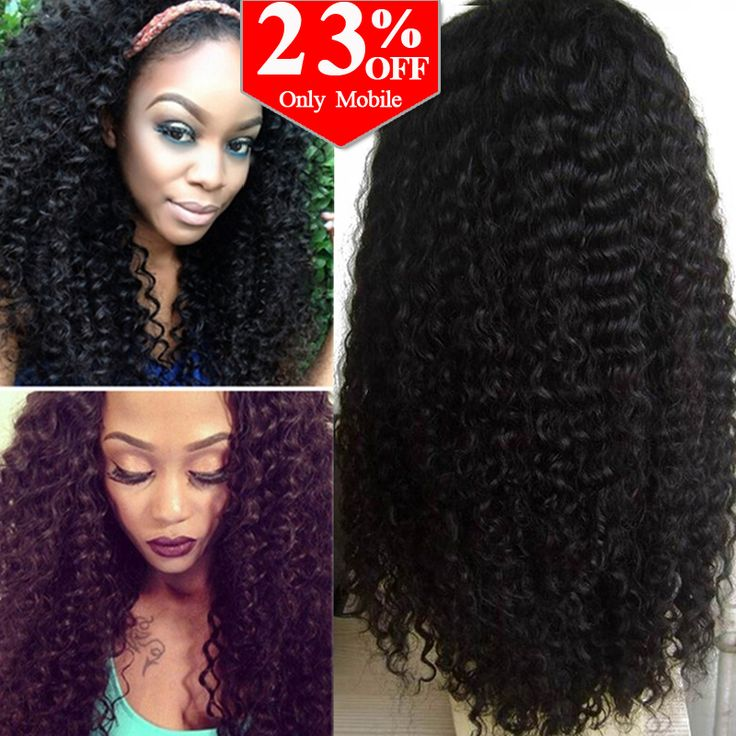 7A Glueless Full Lace Human Hair Wigs Brazilian Kinky Curly Front Lace Wigs Lace Front Human Hair Wigs For Black Women CARA Wigs *** Read more at the image link.