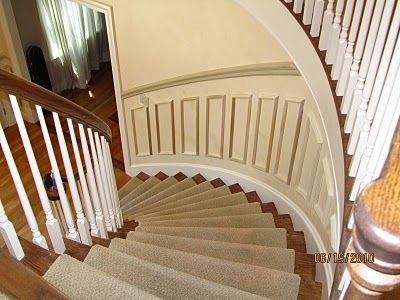 17 Best Decor Ideas For Curved Stairway Entry Wall Images