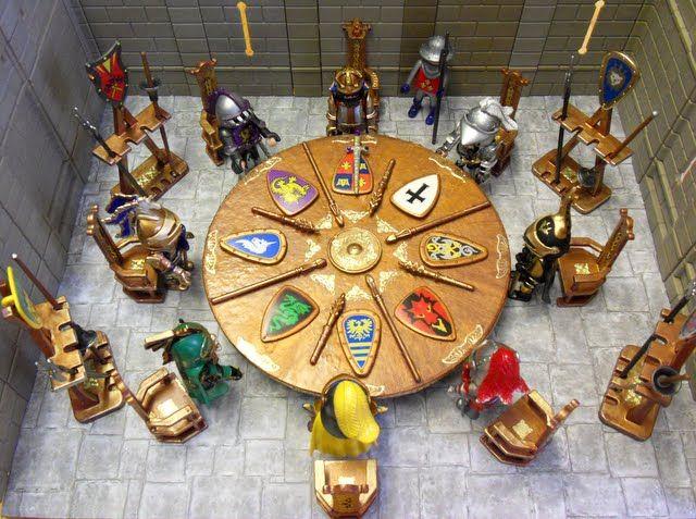 medieval playmobil furniture - caballeros de la mesa redonda rey arturo