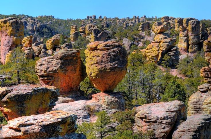 """Chiricahua, Ariz.   Arizona's off-the-beaten path national monument is a forest of free-standing rocks left over from a volcano millions of years ago. Skip the overcrowded Grand Canyon and visit this """"wonderland of rocks"""" instead."""