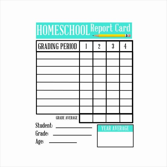 50 Inspirational Homeschool Report Card Template Word In 2020