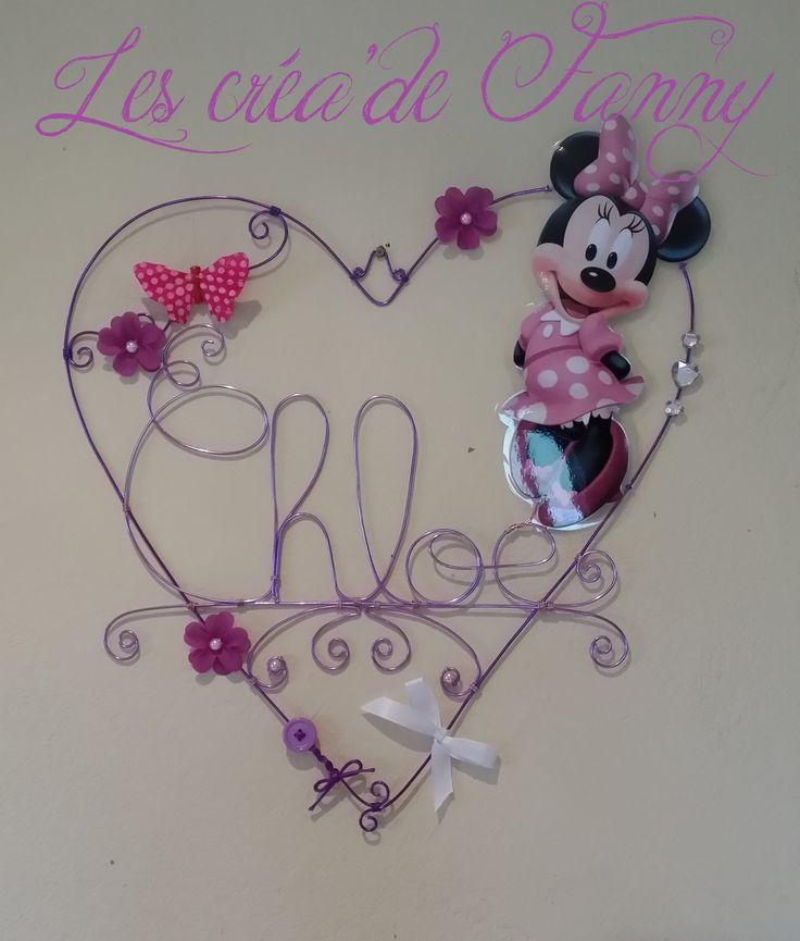 Toile anniversaires personnalisable avec tiquettes violets for Decoration chambre minnie