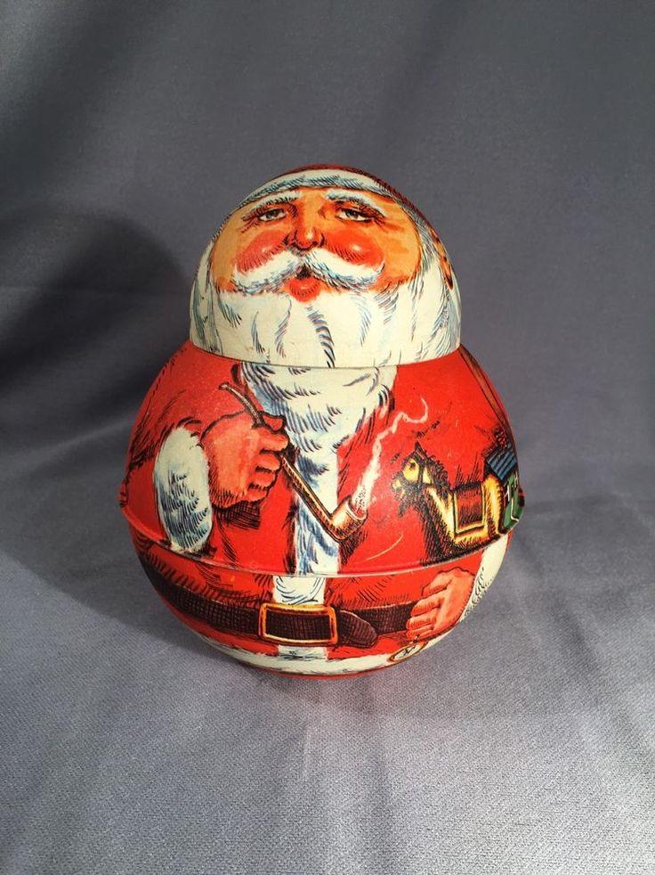 Vintage Santa Tin 1980 Bristol Ware | Collectibles, Advertising, Merchandise & Memorabilia | eBay!