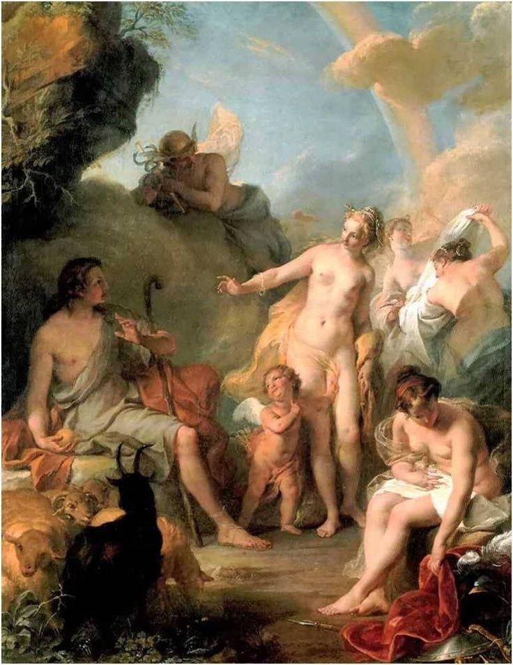 Paridův soud (Judgement of Paris) - Noël Nicolas Coypel