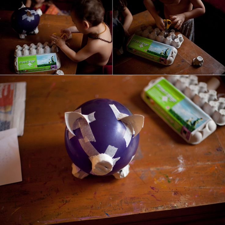 Paper Mache Pig Money Box---I did this in 3rd grade...