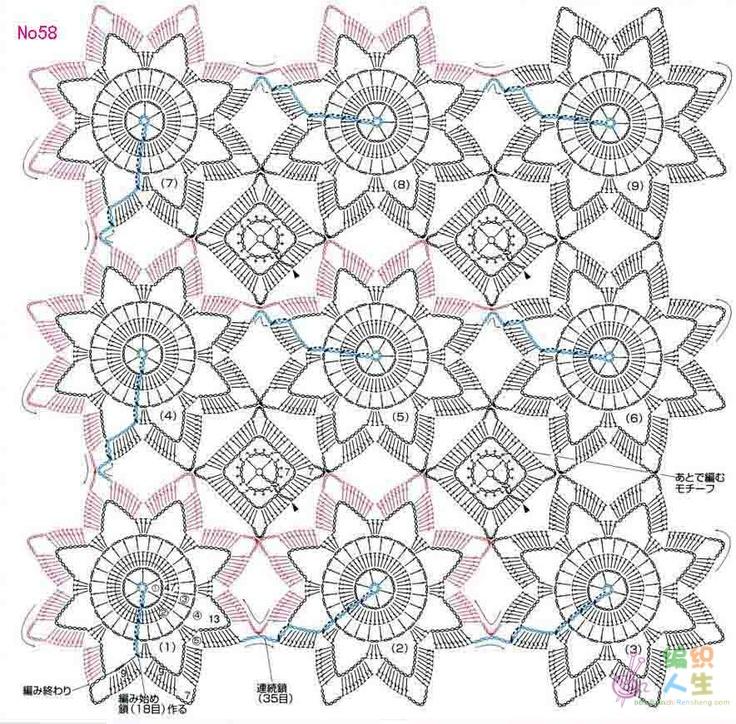 92 best paños de mesa en crochet images on Pinterest | Patrones de ...