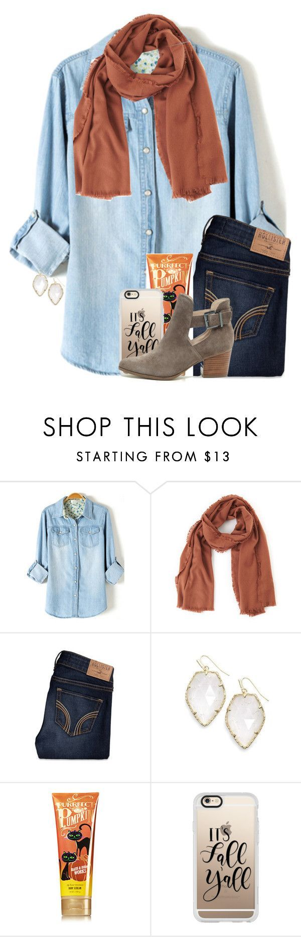 """want this outfit so much"" by tessbartoszek ❤️ liked on Polyvore featuring TIBI, Hollister Co., Kendra Scott, Casetify and Sole Society"