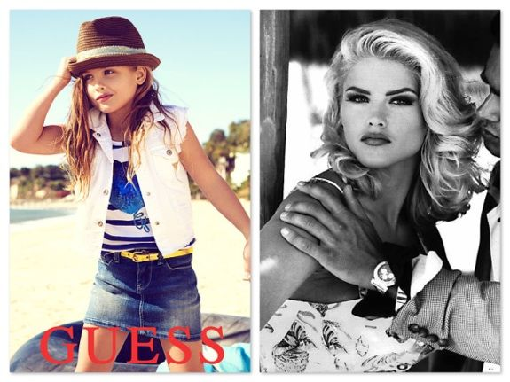 Little fashionista Dannielynn Birkhead follows momma Anna Nicole Smith's footsteps, in the newest Guess Kids ads. Very sweet...