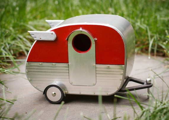 Vintage Camper Birdhouse by jumahl on Etsy, $60.00  I thought this would be perfect for all those who love the old style campers....