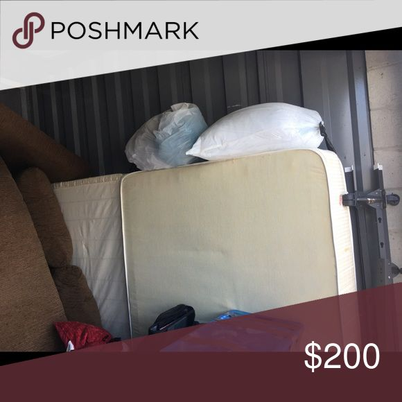 """Double size mattress and box spring Double size mattress with box spring small tear (about 2"""") on side of mattress from moving it out of an apartment but it does not affect the structure or integrity. Sold together or separate if need be. Together = $200; Separate = $140 mattress and $80 box spring. Price is firm due to shipping costs. Other"""