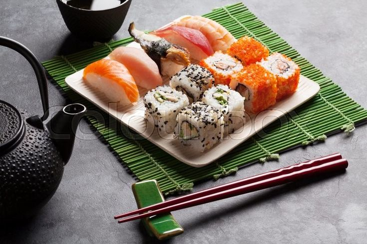 Delicious food photography. Sushi time. Photography has been made by one of Colourbox amazing photographers Evgeny Karandaev. Follow his work on: https://www.colourbox.com/supplier/evgeny-karandaev-2345 #photography #stockphoto #inspiration