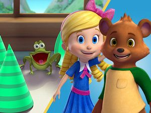 Goldie and Bear have become unexpected best friends who now share daily adventures together in Fairy Tale Forest. Description from disneyjunior.disney.com.au. I searched for this on bing.com/images