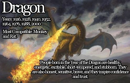 born the year of the Dragon
