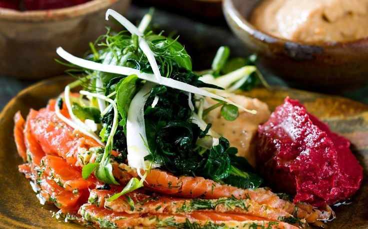 Mezze platter with salmon gravlax  recipe - By New Zealand Woman's Weekly, Rich, opulent European dishes put an international spin on any occasion. This platter works as an entree, paired with hearty breads.