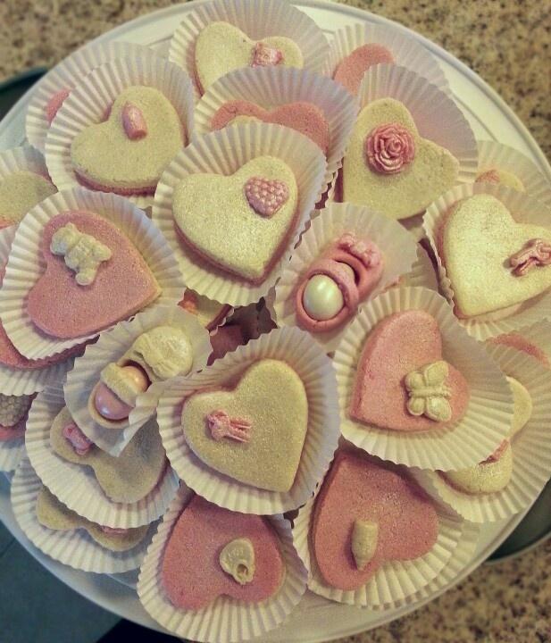 My marzipan sweets for new born babies. حلويات اللوز للمواليد الجدد