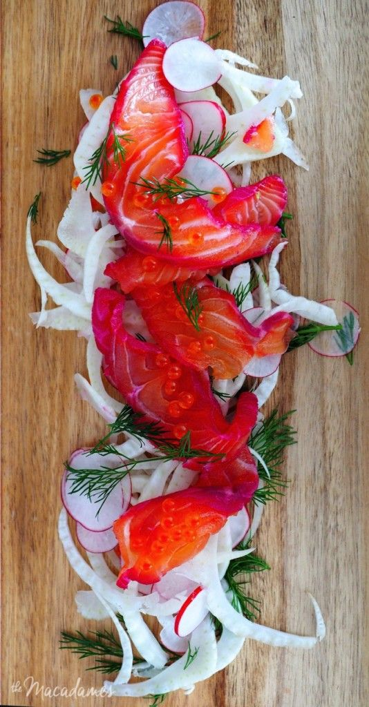 Hendrick's Gin and Beetroot Cured Salmon | The Macadames