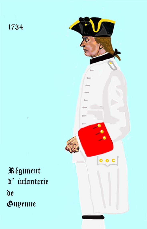 Guyenne inf 1734 - Régiment de Guyenne - Wikipedia