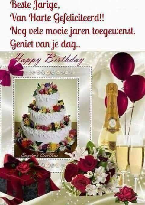Van Harte Gefeliciteerd Met Je Verjaardag En Nog Vele
