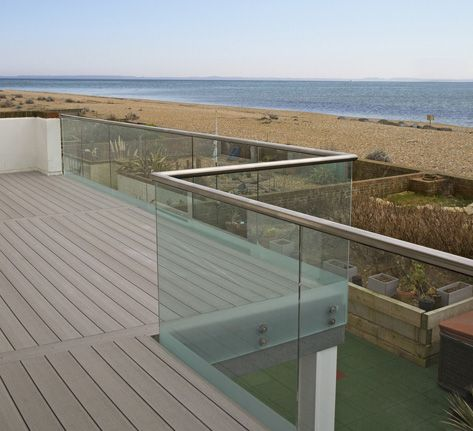 Best 25 glass fence ideas on pinterest glass balcony for Balcony glass railing designs pictures