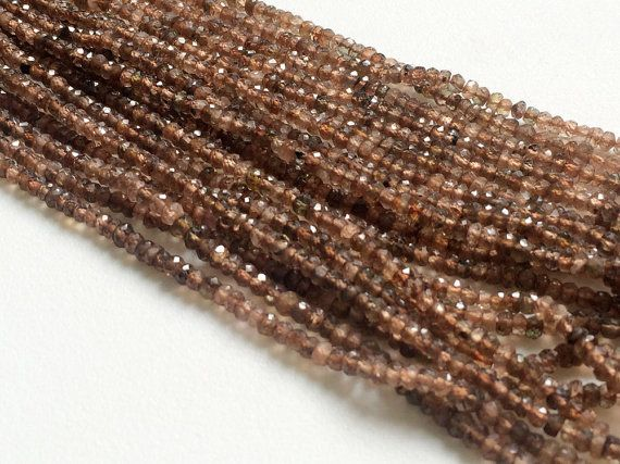 Andalusite Faceted Rondelle Beads Natural Faceted by gemsforjewels