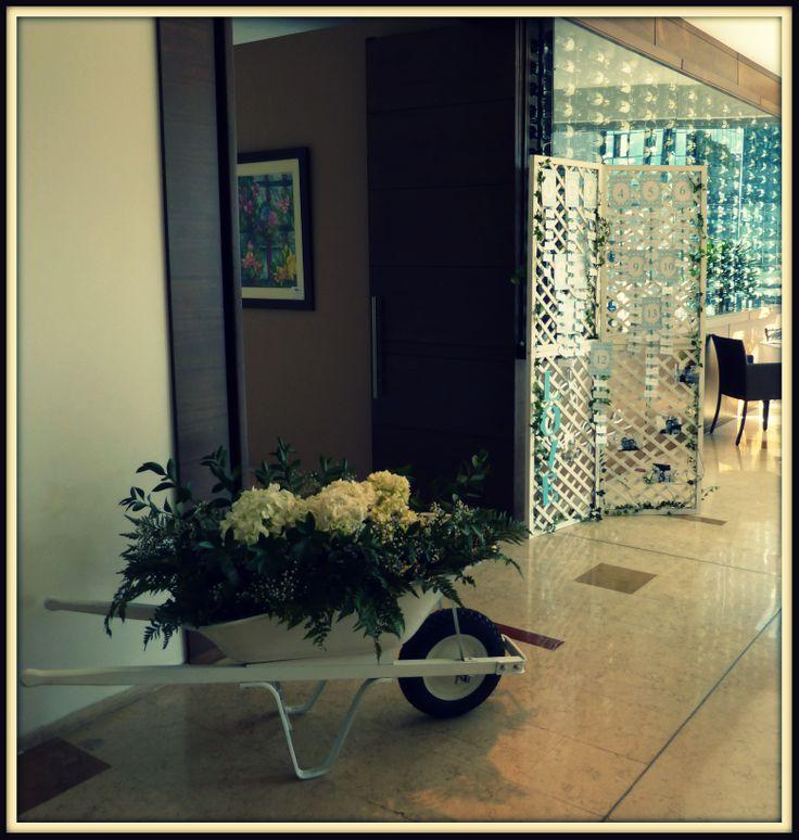 carreta de flores