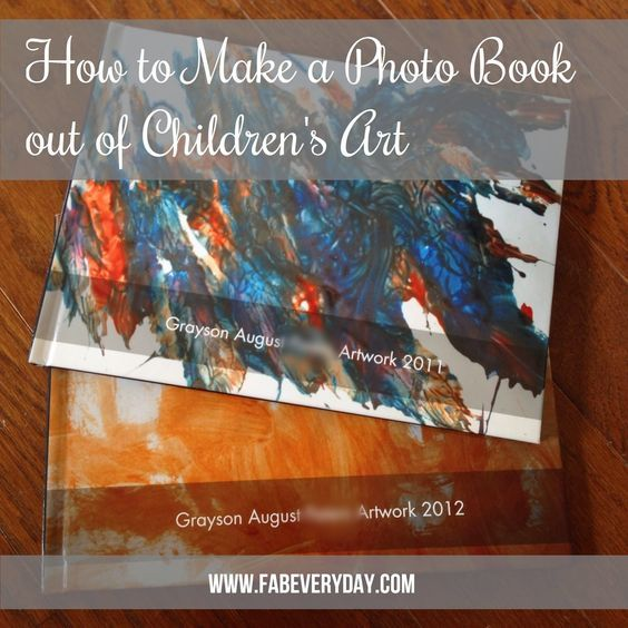 Looking for a way to organize, display, and enjoy your children's art without the clutter?  Visit www.fabeveryday.com or click to see instructions on how to make a photo book with your kid's art.