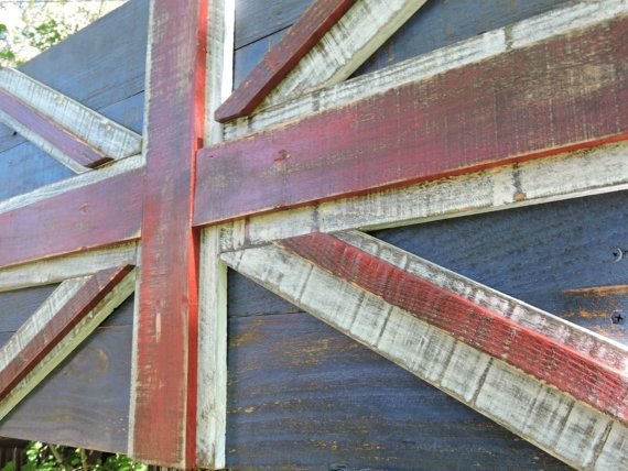 3D Distressed Union Jack, British flag, British isles, England, Scotland, Ireland, Wales, weathered, wall art, reclaimed wood by CraigMoodieDesigns