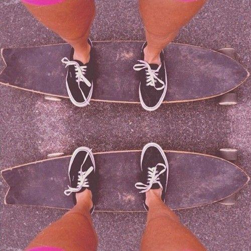 Best friends skateboard photo! Wish my friend knew how to skateboard