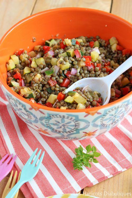 Salade de lentilles vertes aux petits légumes (2)